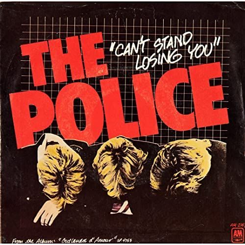 The Police Can T Stand Losing You 1978 Greatest Album Covers Police Album Covers