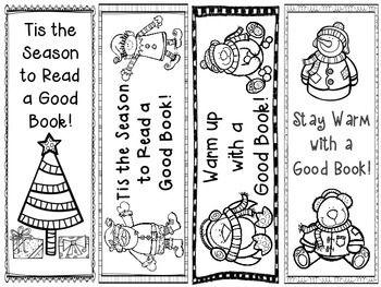 Free Printable Holiday Bookmarks