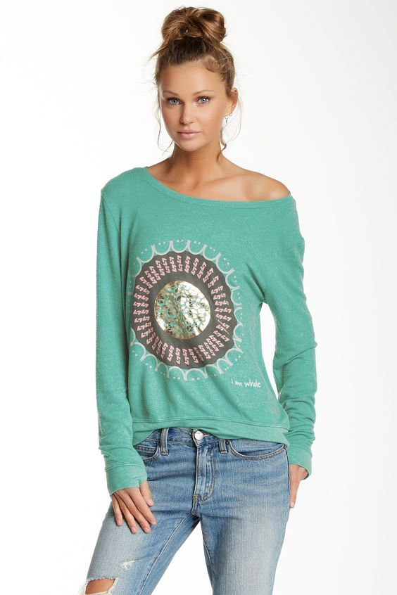 Be Kind Oversized Comfy Sweatshirt by Peace Love World on @HauteLook