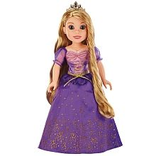 A Princesa Rapunzel da <strong>Disney</strong> está vestida com um bonito vestido, tem a sua coroa e um par de sapatos. Inclui: a boneca da Rapunzel, 1 vestido, 1 coroa, 1 par de brincos, 1 par de sapatos e 1 revista. Idade recomendada + 6 anos.<br><br>A Rapunzel, uma formosa e determinada princesa que gosta muito da leitura, da pintura e de explorar o mundo. Ao nascer, foi dotada de um belo cabelo dourado e muito comprido com um poder especial.