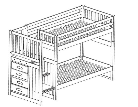 Bunk Bed With Stairs Plans Free Bunk Bed Plans Bunk Bed