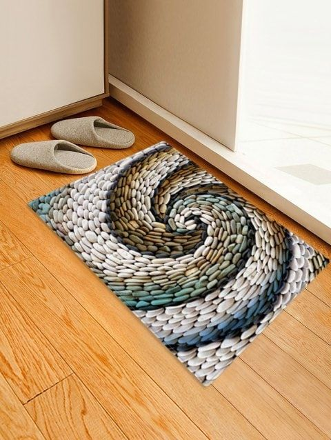 Pebbles Pattern Print Floor Mat Printed Floor Mat Rugs On Carpet Floor Patterns