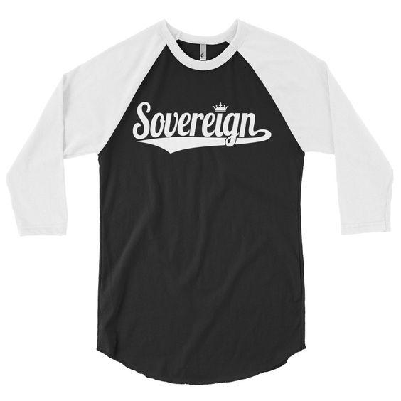 Sovereign 3/4 sleeve (White Print)