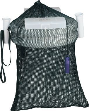 Wading basket with rod holder and tackle storage for Wade fishing gear