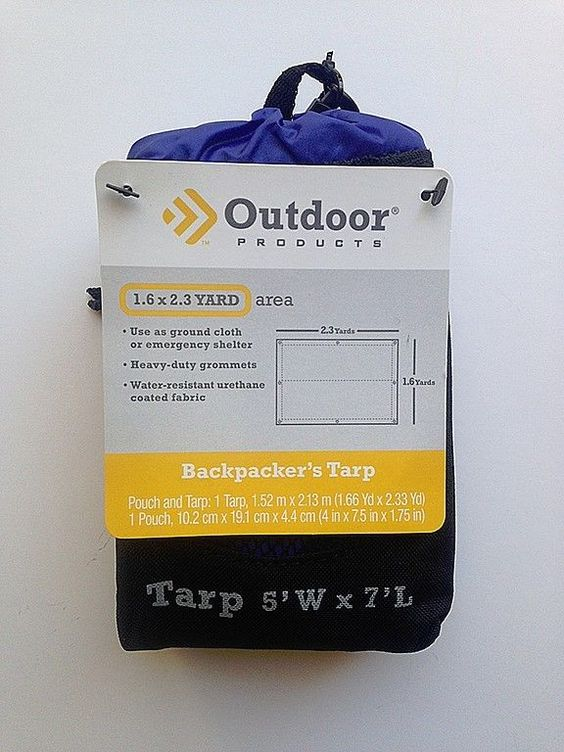 Backpacker's Tarp 5x7 NYLON Water Resistant 606OP-SURF #OutdoorProducts