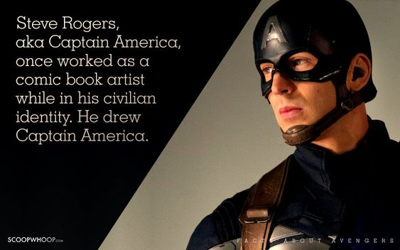 Steve Rogers, aka Captain America, once worked as a comic book artist while in his civilian identity. He drew Captain America.