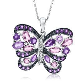 Round & Marquise Amethyst Butterfly Pendant in Sterling Silver - Shop All Pendants & Necklaces - Pendants & Necklaces - Jewelry - Helzberg Diamonds #crazypinlove and #helzbergdiamonds