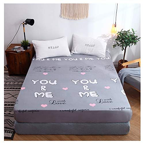 Orihome Fitted Sheet Cartoon Letters Printing Fitted Sheet Microfiber Bedding Wrinkle Stain Resistant Hypoallergenic Zl Letter Grey Twin 1fitted Sheet R