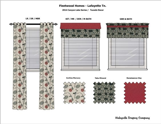 Canyon Lake Décor Sample #customdrapes #tuxedodecor #fleetwoodhomes #canyonlake