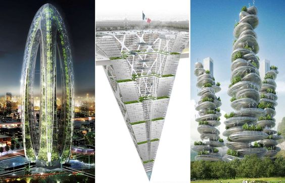 Future cities and next generation travel - Vincent Callebaut/Solent News/REX; BNKR Arquitectura/Solent News/REX; Solent News/REX