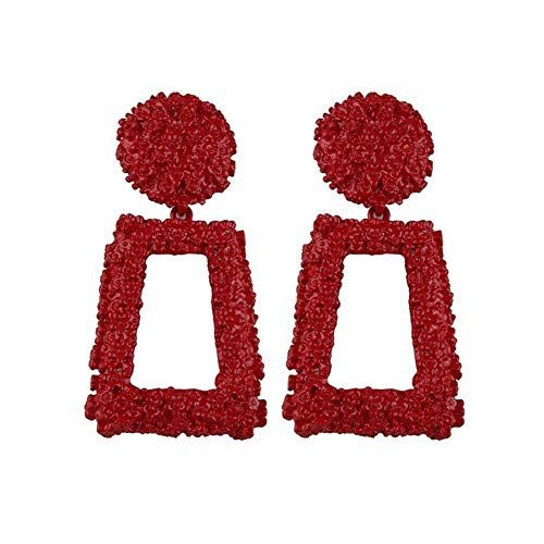 Fashion Punk Jewelry Geometric Dangle Drop Earrings Metal Statement Big Gold V
