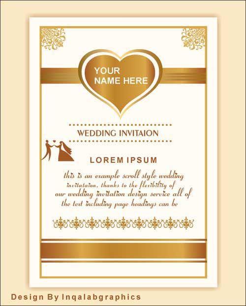 Wedding Invitation Vector Wedding Invitation Vector Wedding Invitations Wedding Invitation Samples