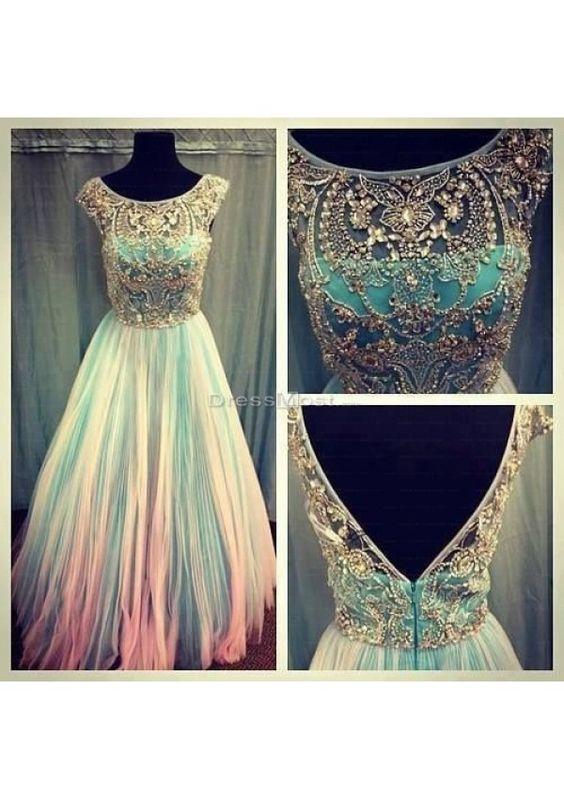 Charming Floor-length Zipper A-line Chiffon Prom Dress - Dressmost