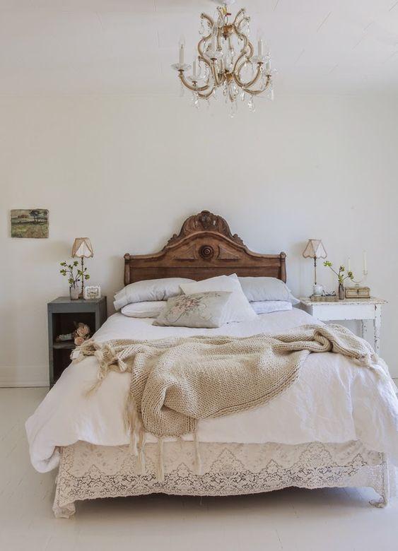 pretty simple yet romantic white bedroom