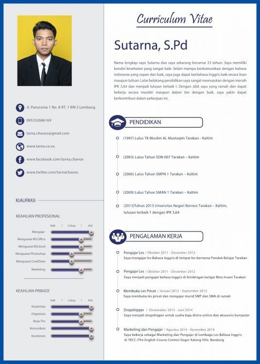 Format Resume Yang Menarik Resumeformat Cv Design Template