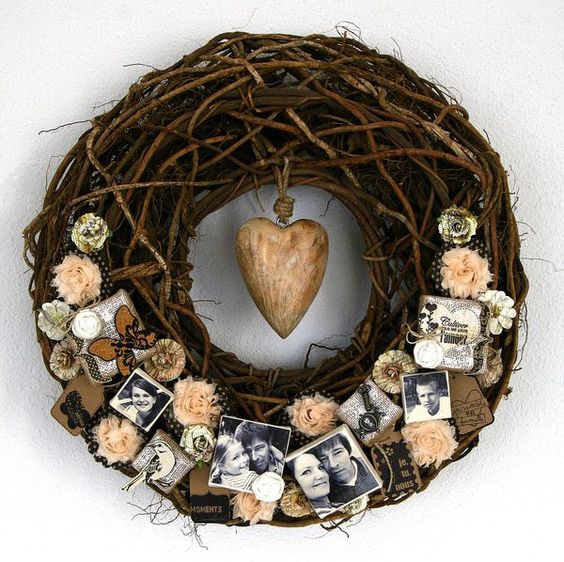 heart wreath... Love! Have the PERFECT place for this!