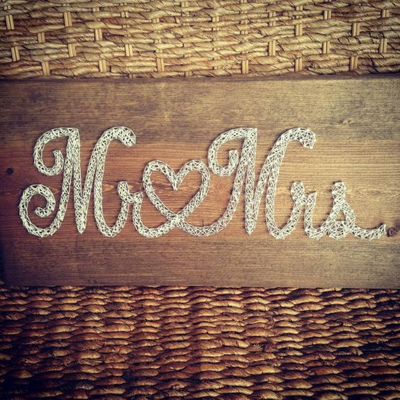 Check out this item in my Etsy shop https://www.etsy.com/listing/274511528/mr-mrs-string-art-sign-rustic-wedding
