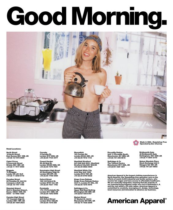 Good Morning. #AmericanApparel #ad: