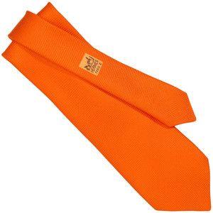 affordable bags - Hermes - Basket weave silk tie in orange-will buy one for my Hubby ...