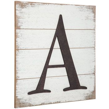 Jodi How About These Eat On The Wall Where Your Old Phone Jack Is Whitewashed Wood Pallet Letter Wa Letter Wall Decor Wood Pallets Whitewash Wood