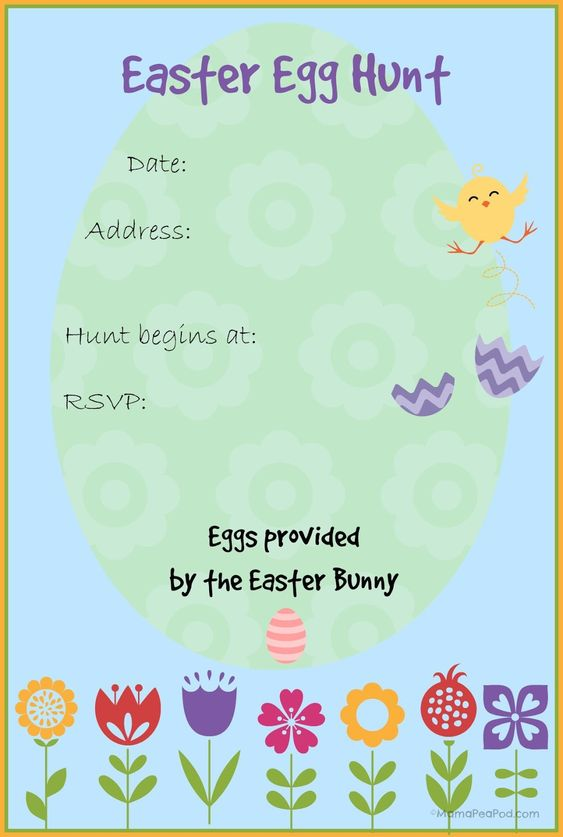Free Easter Templates  Free Printable Easter Cards  Invitations