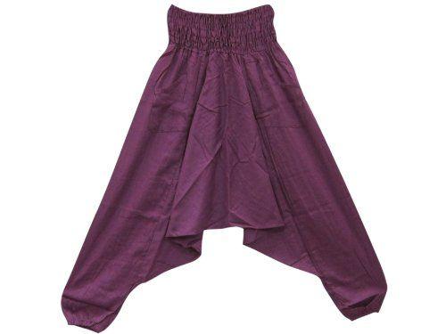 Womens Harem Pant Ali Baba Pants Jumpsuit Capri Romper (Purple) Mogul Interior,http://www.amazon.com/dp/B00G9X6998/ref=cm_sw_r_pi_dp_BTAFsb1D8GPHKHKR