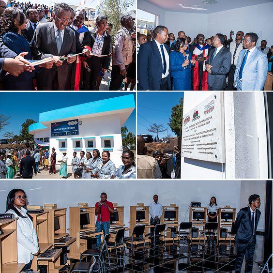 Autre spécificité de l'université de Fianarantsoa, sa « Vitrine numérique » qui offre ses services aux quelques 11 500 étudiants qui fréquentent les six filières existantes au campus d'Andrainjato. Pour répondre aux besoins sans cesse croissants, en termes de recherche notamment, l'Etat a octroyé 40 nouveaux ordinateurs à la vitrine numérique de l'université d'Andrainjato qui compte 131 enseignants à l'heure actuelle.