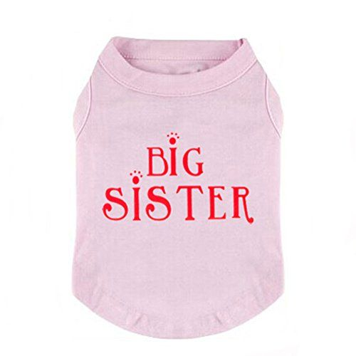 Generic Pet Small Dog BiG SiSTER Printed Tshirt Tank Vest Clothes Apparel -- Read more reviews of the product by visiting the link on the image.