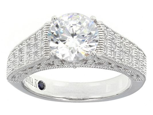 Vanna K (Tm) For Bella Luce (R) 3.35ctw Platineve Ring (2.34ctw Dew)