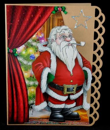 Card Gallery - Father Christmas Over the Edge