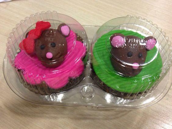 Cupcakes de nutella e doce de leite