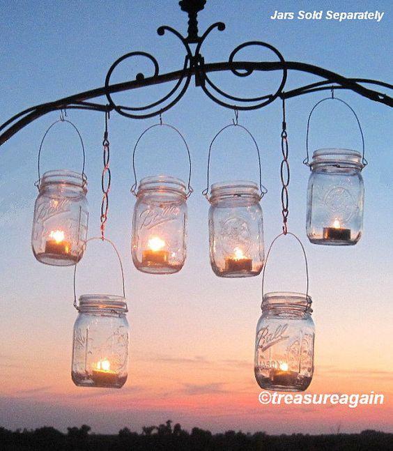 Hanging Candle Lanterns Flower Tower Lantern Wedding: 12 Hanging Garden Light DIY Mason Jar Lantern Hangers, DIY