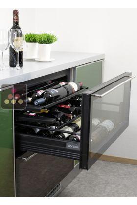 Cave à vin de service à tiroirs, 2 températures encastrable | cave ...