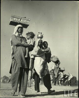 Mass migration during independence of India in 1947   These photographs taken in 1947 during the period of independence of India and Pakistan. The photographer is Margaret Bourke-White. These photographs collected from Life Archive hosted by Google.