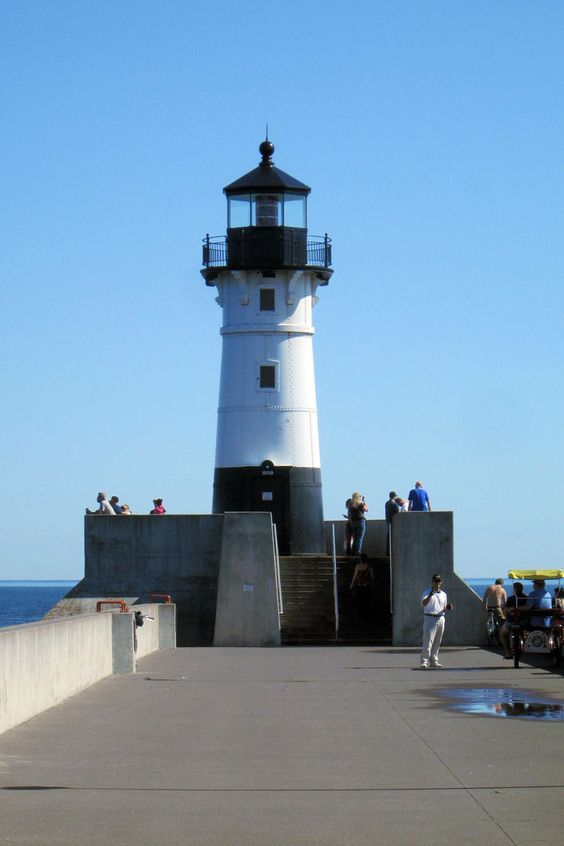 North Breakwater Lighthouse, Duluth, Minnesota.