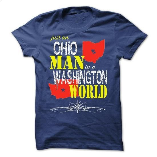 Ohio Man In A Washington World - #college hoodies #mens zip up hoodies. BUY NOW => https://www.sunfrog.com/States/Ohio-Man-In-A-Washington-World.html?id=60505
