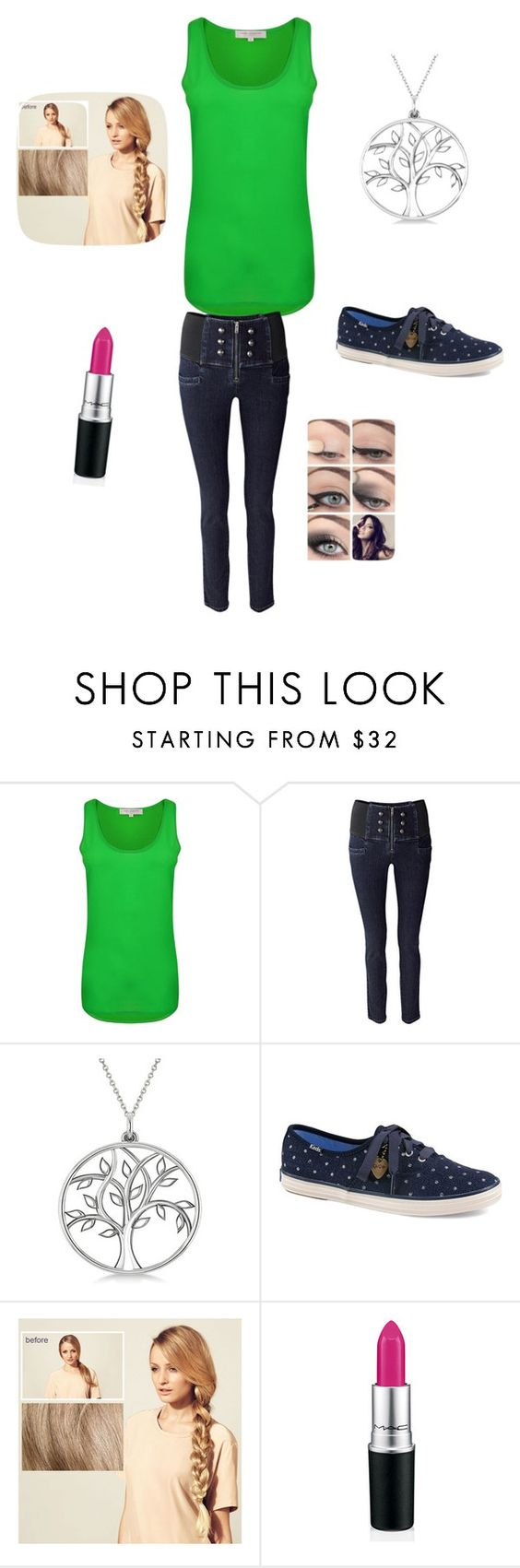 """""""Tree of life"""" by gabby-xvii ❤ liked on Polyvore featuring mode, French Connection, Allurez, Keds et Hershesons"""