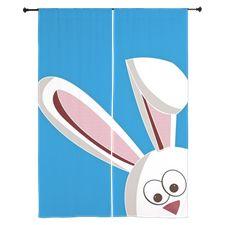 Peeking Bunny Curtains