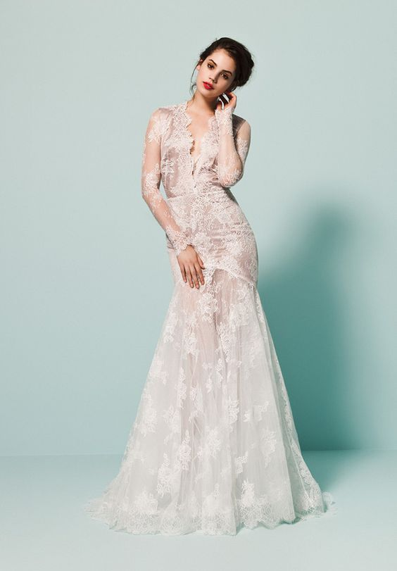"Daalarna couture wedding dresses "" Pearl Collection""  stylish and utterly romantic wedding dresses"
