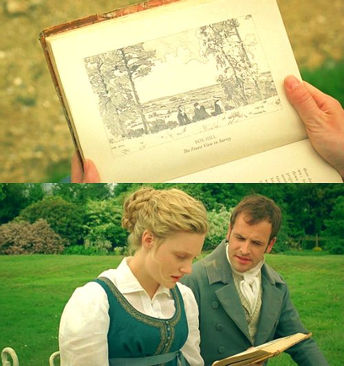 Box Hill - Romola Garai (Emma Woodhouse) & Jonny Lee Miller (Mr. Knightley)