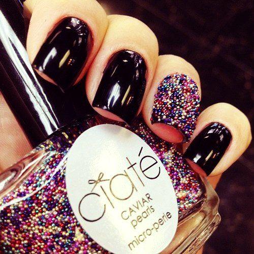 Ciate Caviar Nails: Colorful 3D Ciate Caviar Nail Polish Manicure #Christmas