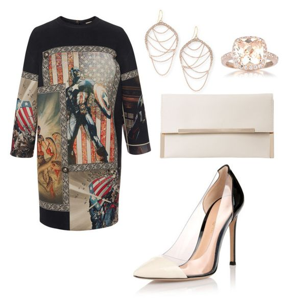 """Untitled #2064"" by ceceiscool1995 ❤ liked on Polyvore featuring FAUSTO PUGLISI, Alexis Bittar, Gianvito Rossi and Emitations"