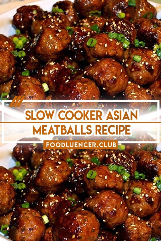 Slow Cooker Asian Meatballs Recipe