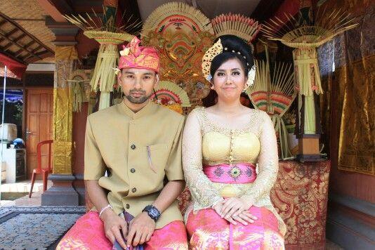 My wedding ceremony at Bali.. #wedding #bali #kebaya #songket #sarikusumasalon #pink #traditional #makeup #indonesia
