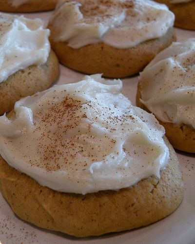 """BEST pumpkin cookie recipe ever.  Don't take my word for it.  Read all the comments on the post!"""