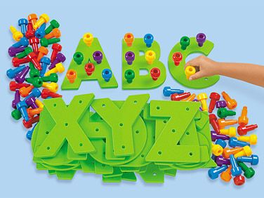 Alphabet Pegboards & Pegs from Lakeshore $59.95
