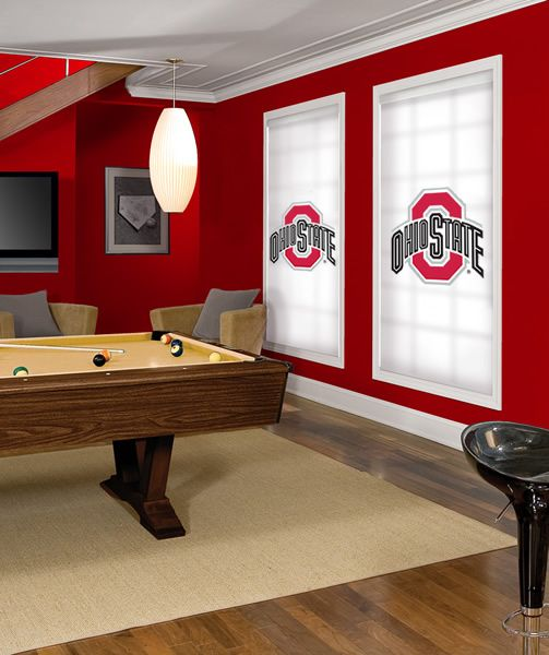 Ohio State Buckeye Roller Shade. Several College Team Shades Offered!