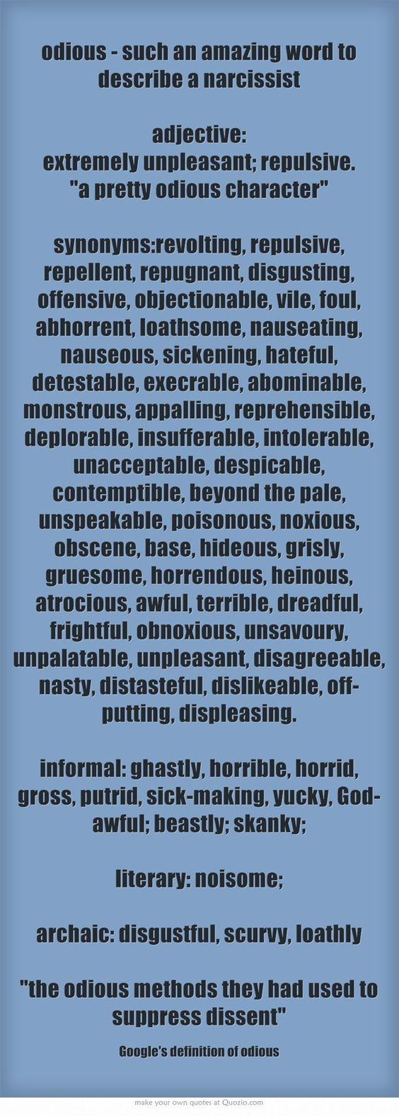 Disgusting Synonym