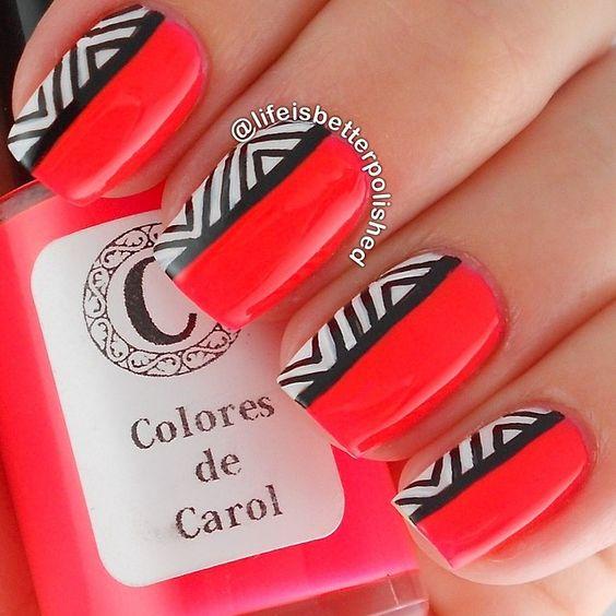 DesertRose,;,Uñas decoradas en rojo - Red nail art,;,