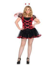 Lovely Ladybug Sexy Plus Size Holiday Party Costume